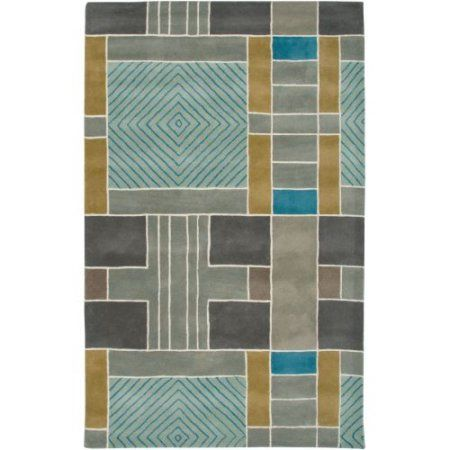 Rizzy Home Volare Hand-Tufted Area Rug 3 Ft. X 5 Ft. Multicolored Model VOLVO265400430305, Blue