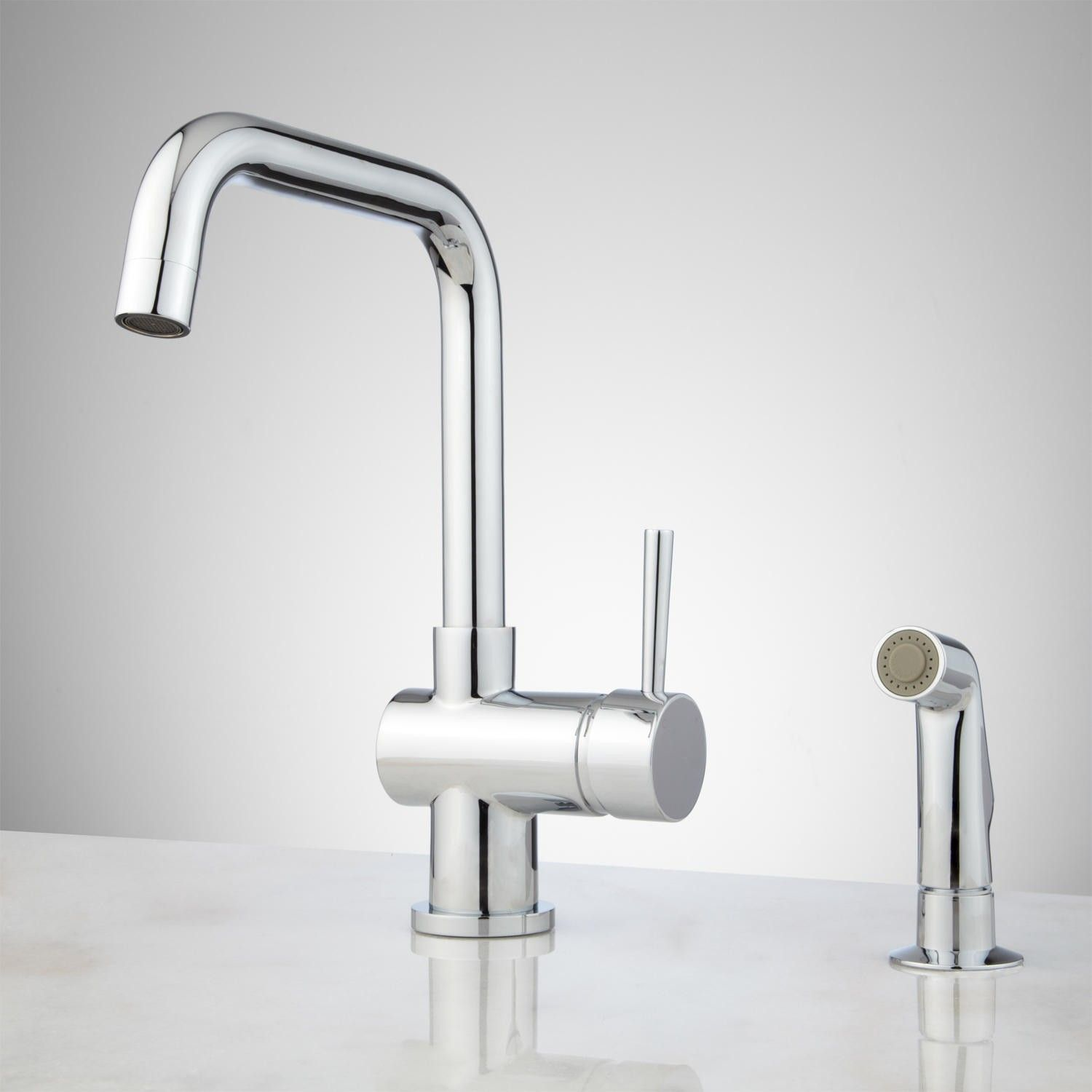 Lolita Single-Hole Kitchen Faucet with Side Spray | Kitchen faucets ...
