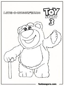 Free Printable huggin bear toy story 3 coloring page for