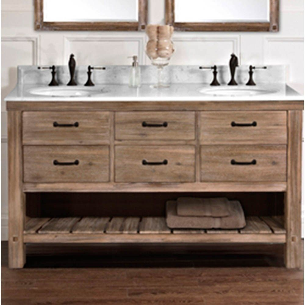 Best Fairmont Designs Napa 60 Double Bowl Open Shelf Vanity 400 x 300