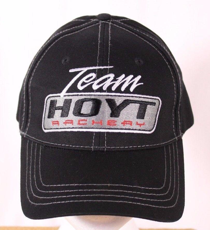 61e35e53faf Team Hoyt Archery Ball Cap Trucker Hat Adjustable Black 100% Cotton   TeamHoyt  BaseballCap