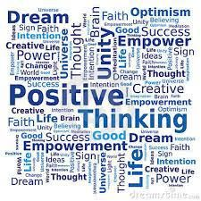 Photo About Word Cloud On Positive Thinking Theme In Blue Colors