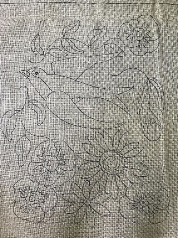 Barn swallow, vintage Floral, sunflower,swallow, rug ...