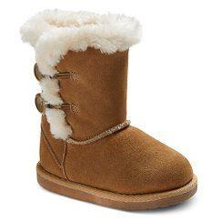 Toddler Girls' Jaye Suede Boots - Tan