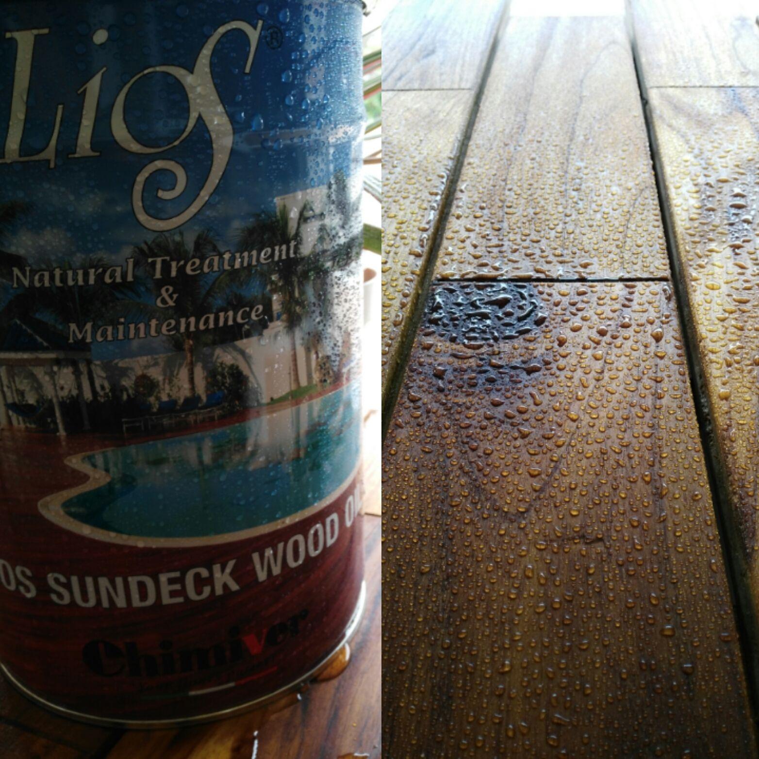 Anche l'estate ha la sua freschezza! Proteggi e nutri il tuo decking con Lios Sundeck!