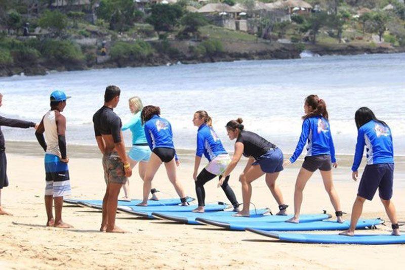 Surf Lessons At Up2u Surf School Bali Bali Surf Camp Surfing Kuta Beach