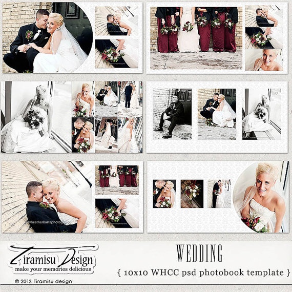wedding album template wedding photobook 10x10 in photoshop psd