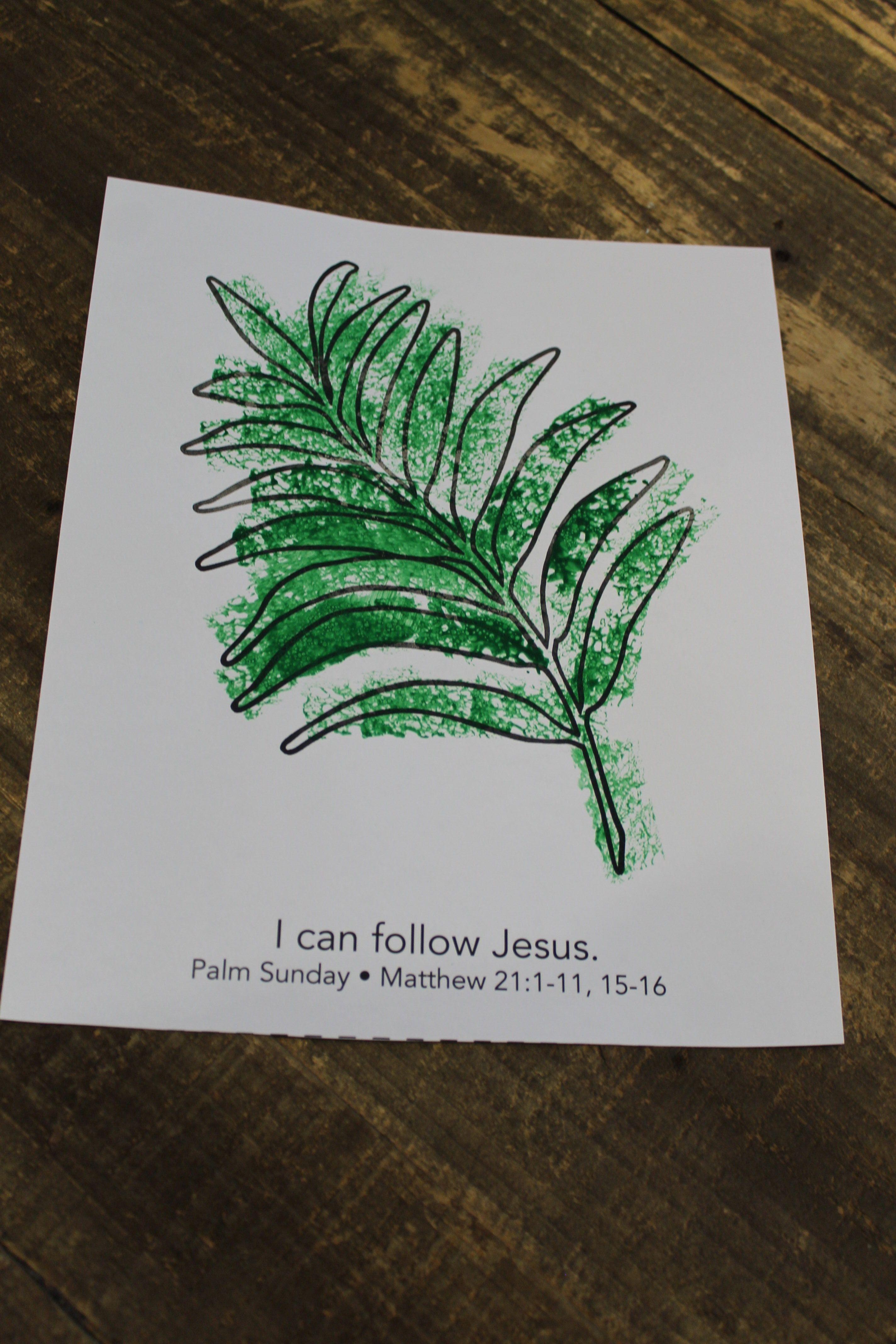 Craft Sample For 2s Week 4 Palm Leaf Color March 2018 Gone