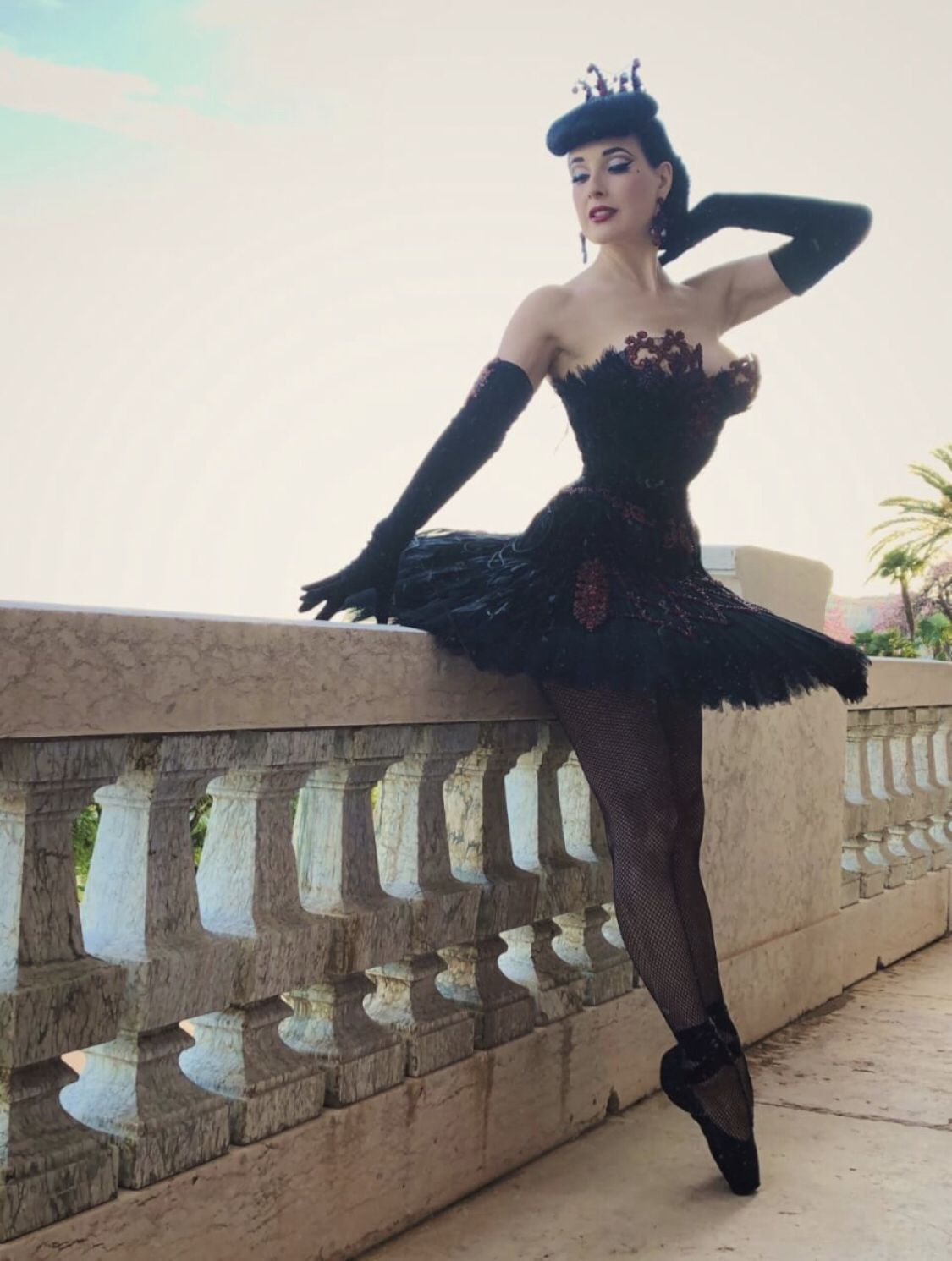 """145d2ba78466 Dita in Monaco for her tour  """" The Art of Teese"""""""