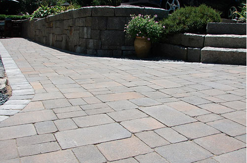 Click the photo to see design inspiration for steps & walkways by Cambridge Pavingstones with Armortec.