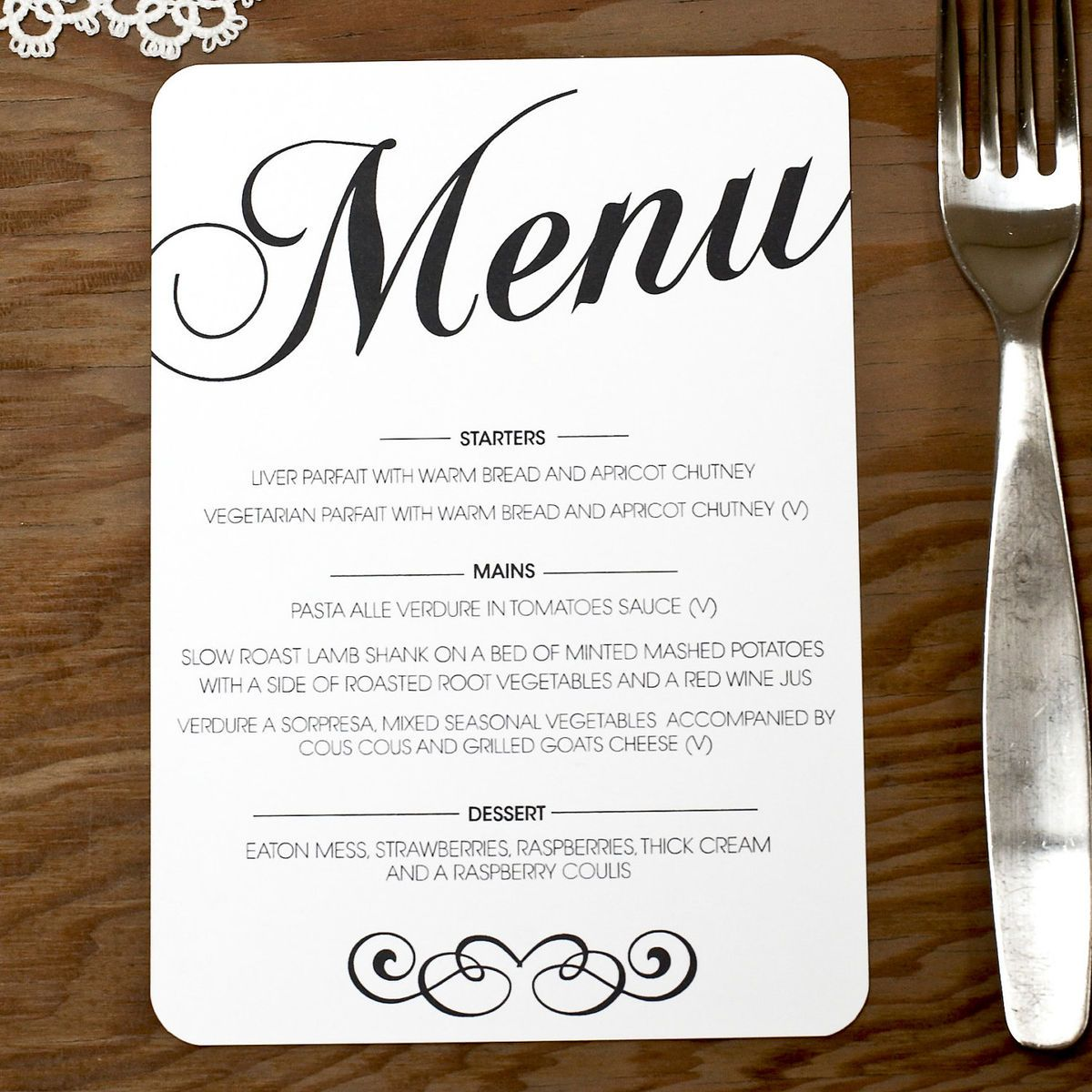 wedding menu monogram table cards numbers  szukaj w