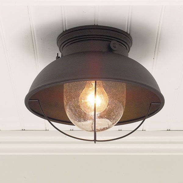 nautical ceiling light rustic outdoor fixture at the beach