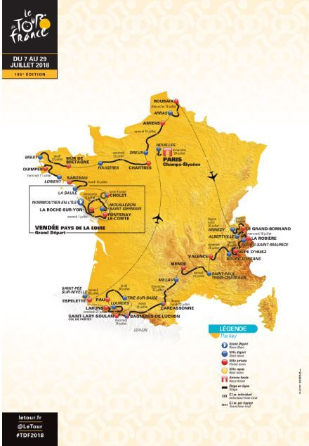 Tour De France 2020 Route Eight Mountain Finishes And Uphill Time Trial To Decide 107th Edition Cycling Weekly Tour De France Cycling Route Cycling France