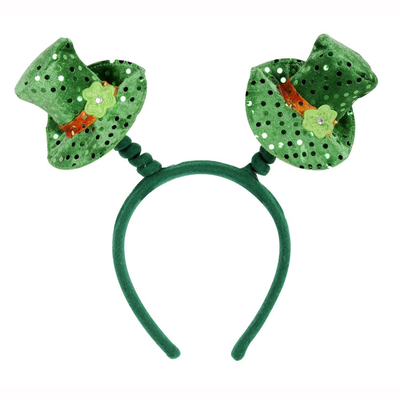 Saint Patrick Day Party Head Bopper Shamrock Headband Green Irish Headwear