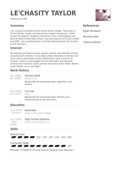 Resume Example Kitchen Staff Example Kitchen Resume Resumeexamples Staff Simple Resume Template Resume Examples Downloadable Resume Template
