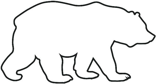 Bear Outline Bear Outlines Yurai Clip Art For Students House Clipart Online Download Serif