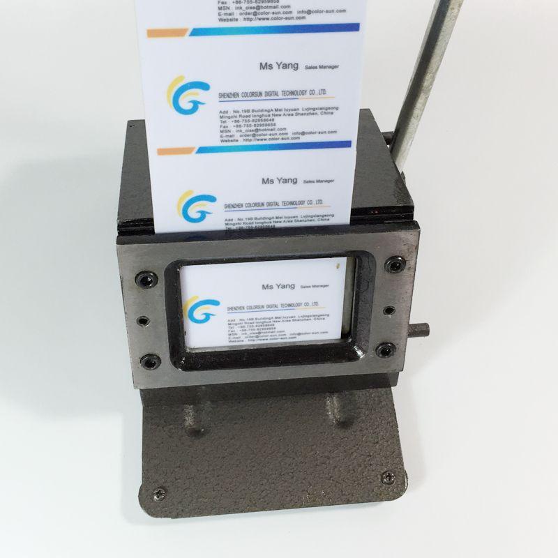 Manual PVC card Cutting Machine Business Name Credit ID Card Cutter ...