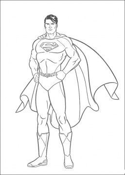 How to draw an outline of Superman
