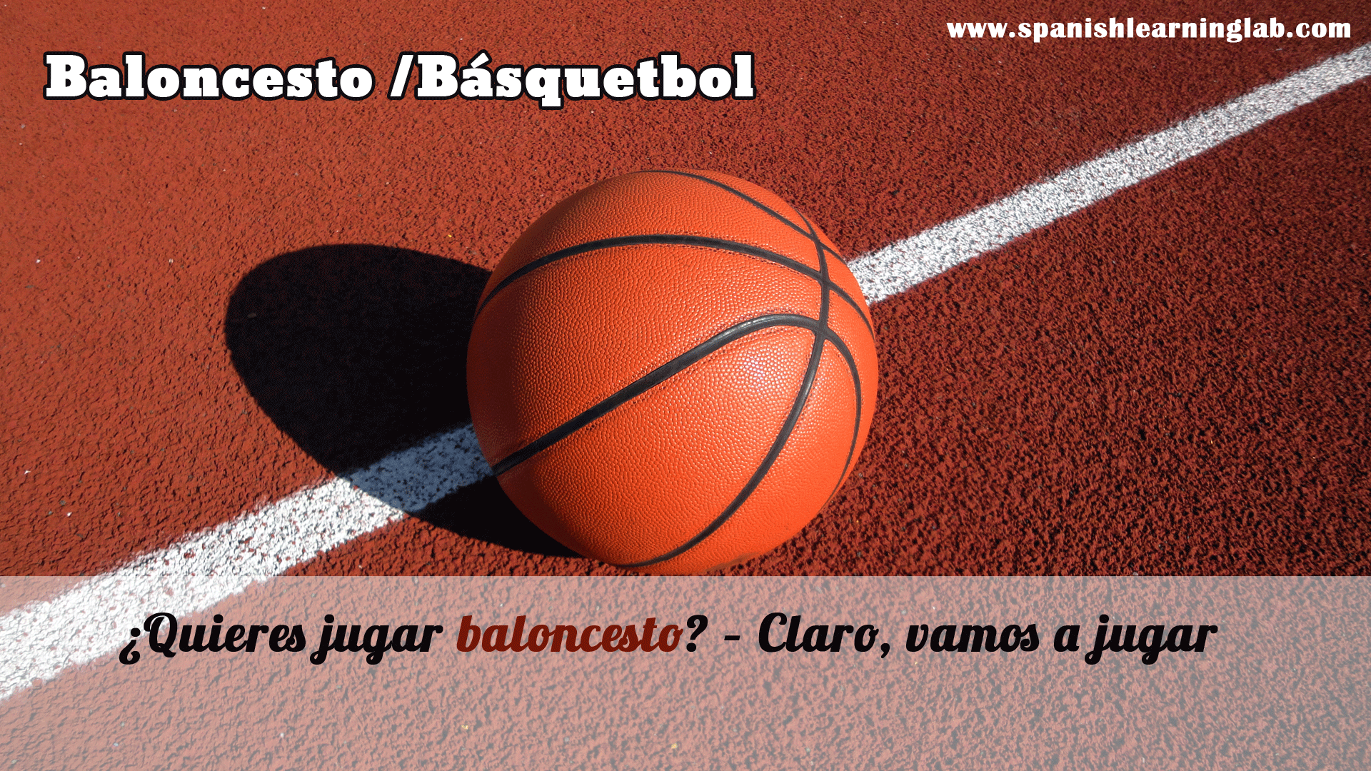 Do you want to play basketball Sure lets play Quieres jugar