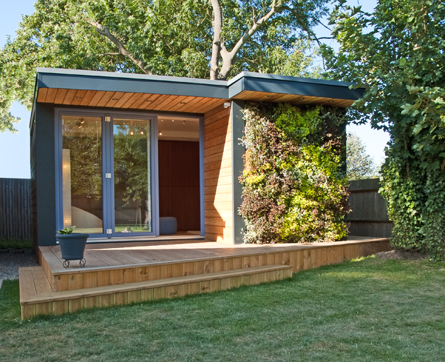 Turning small gardens into useable office, storage and ...
