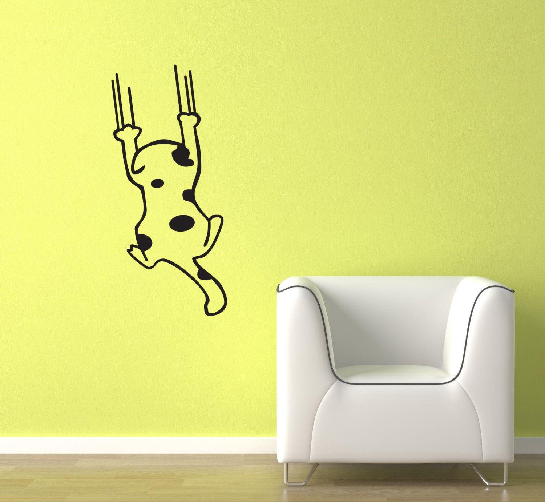 Sliding Cat Vinyl Wall Decal Wall Art Sticker Room Decor by ...