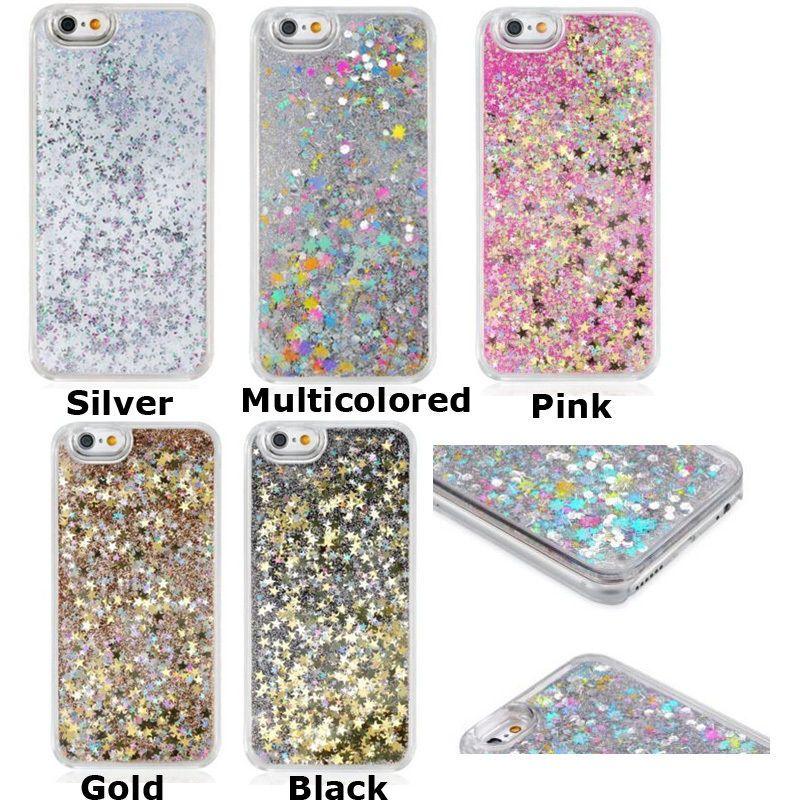 Glitter Bling Stars Novelty Liquid Hard Case For iPhone 5/5S 6/6S & 6/6S Plus #UnbrandedGeneric