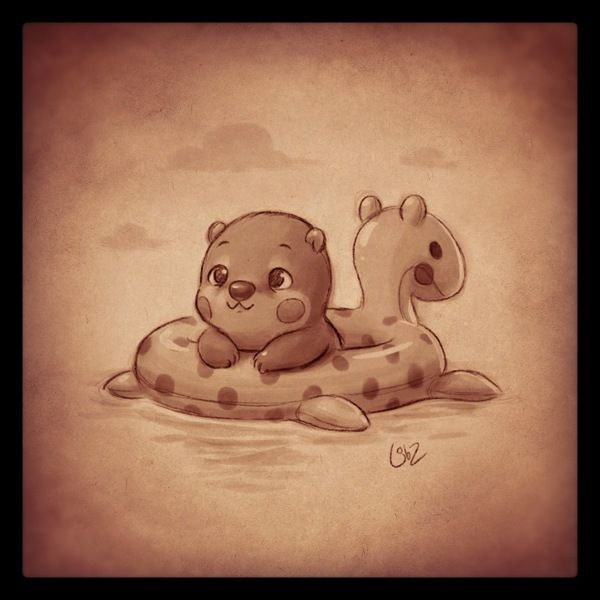 Quick Warm Up Sketch It S Supposed To Be A Baby Otter Lol
