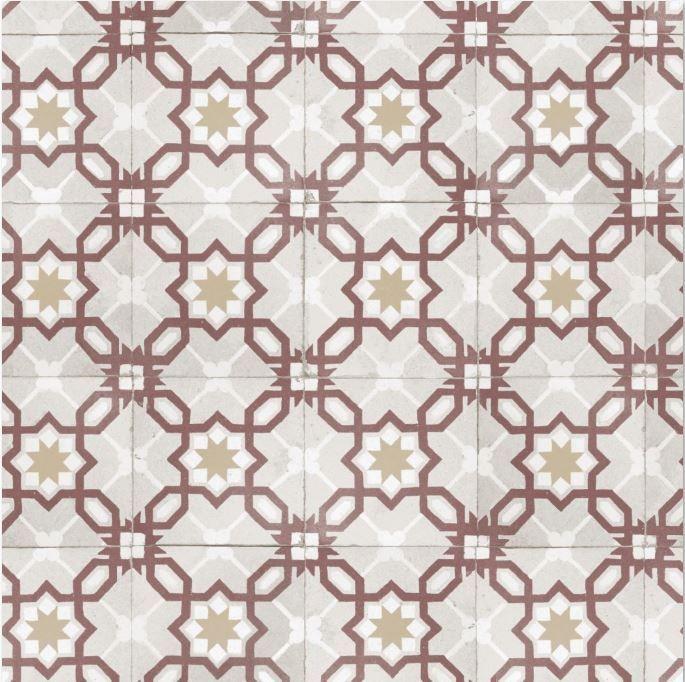 Papier Peint Vinyle Lutece Carreaux De Ciment Rouge En 2020 Papier Peint Vinyle Papier Peint Carreau De Ciment