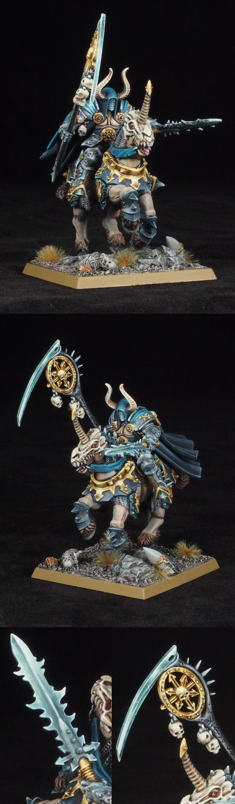 Warriors of Chaos Sorcerer Lord of Tzeentch on Daemonic Mount.