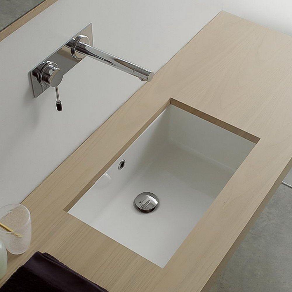 White Rectangular Bathroom Sink With Overflow Choosing The Best Narrow Bathroom Sinks Decorideasbathroom Com In 2020 Rectangular Sink Bathroom Narrow Bathroom Sink