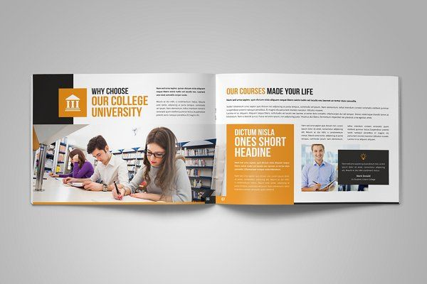 University Study Brochure Template Design Id University Brochure