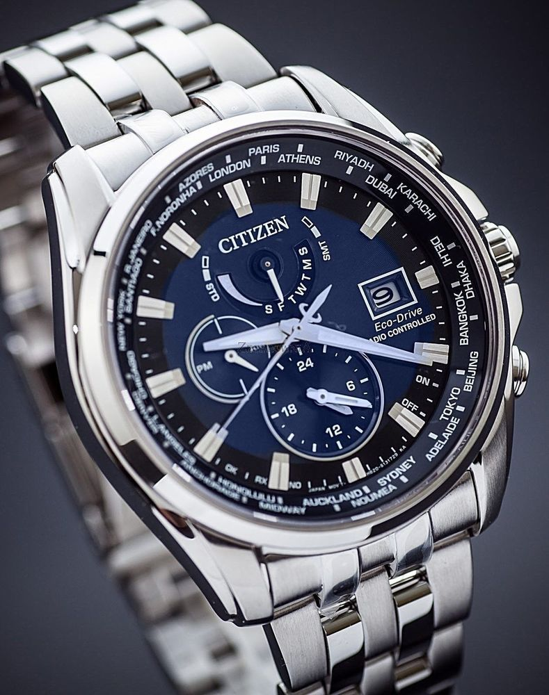 Citizen Eco Drive At9030 80l World Time Atomic Radio Controlled Men Watch New Citizen Eco Watches For Men Eco Drive