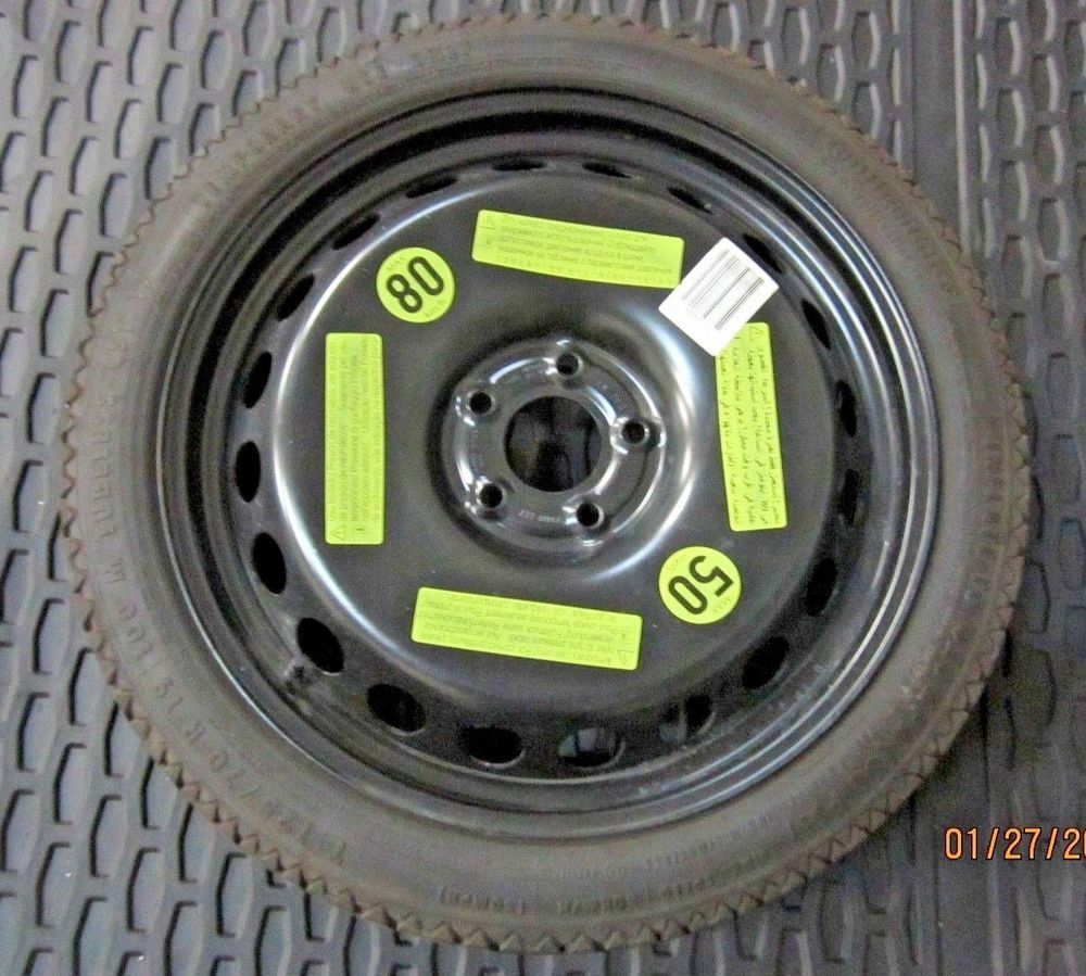 10 15 Audi A4 S4 S5 Continental T125 70r19 Spare Tire Unused Oem 8k0 601 027 D
