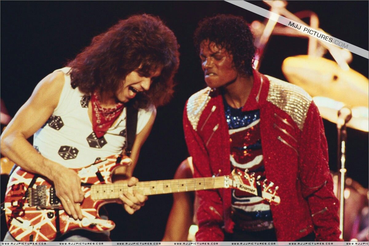 Eddie Van Halen N Mj Eddie Van Halen Van Halen Michael Jackson