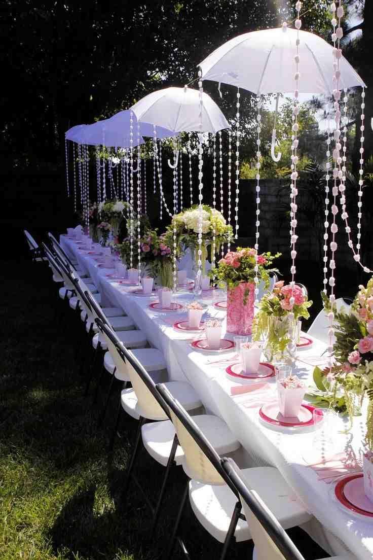 Bridal shower umbrella decorations wedding umbrellas pinterest bridal shower umbrella decorations junglespirit Images