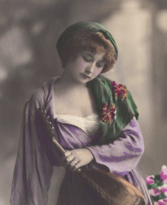 Lovely HandTinted Mignon circa 1910 at redpoulaine on Etsy