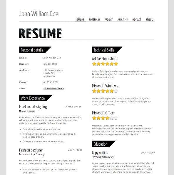 Evohosting Http Www Evohosting Co Uk Blog Web Development Design 10 Best Free Premium Cv Resume Website Templates Simple Resume Resume Blog Marketing