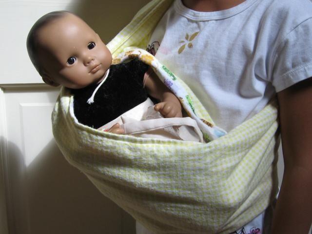 Doll Baby Sling By Greenpatterns Sewing Pattern Naomi