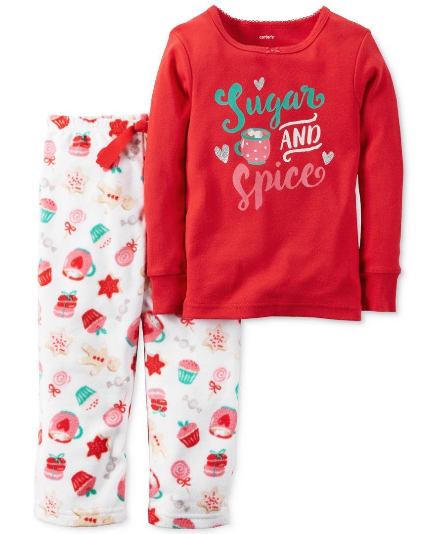 d257d2e553e8 Carter s 2-Pc. Sugar   Spice Holiday Snacks Pajama Set