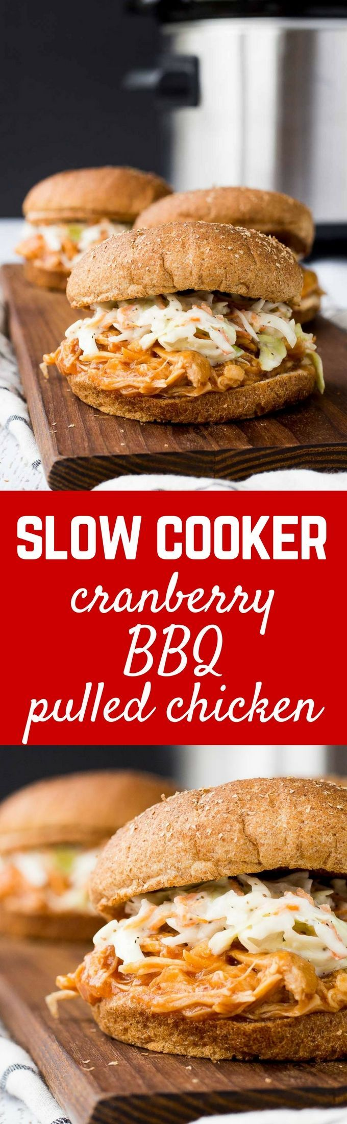 Slow Cooker Barbecue Pulled Chicken Cranberry Sherry Bbq Sauce Recipe With Images Recipes Chicken Slow Cooker Recipes Slow Cooker Recipes