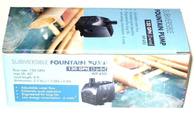Bamboo Accents Replacement Pump Jebao Wp 450 Submersible Fountain Water Pump Is Designed For Reliability And Ultra Quiet Op Fountain Pump Submersible Fountain