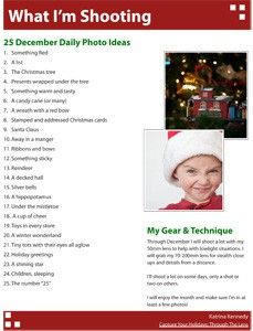 "Great ""must take"" Christmas picture ideas."