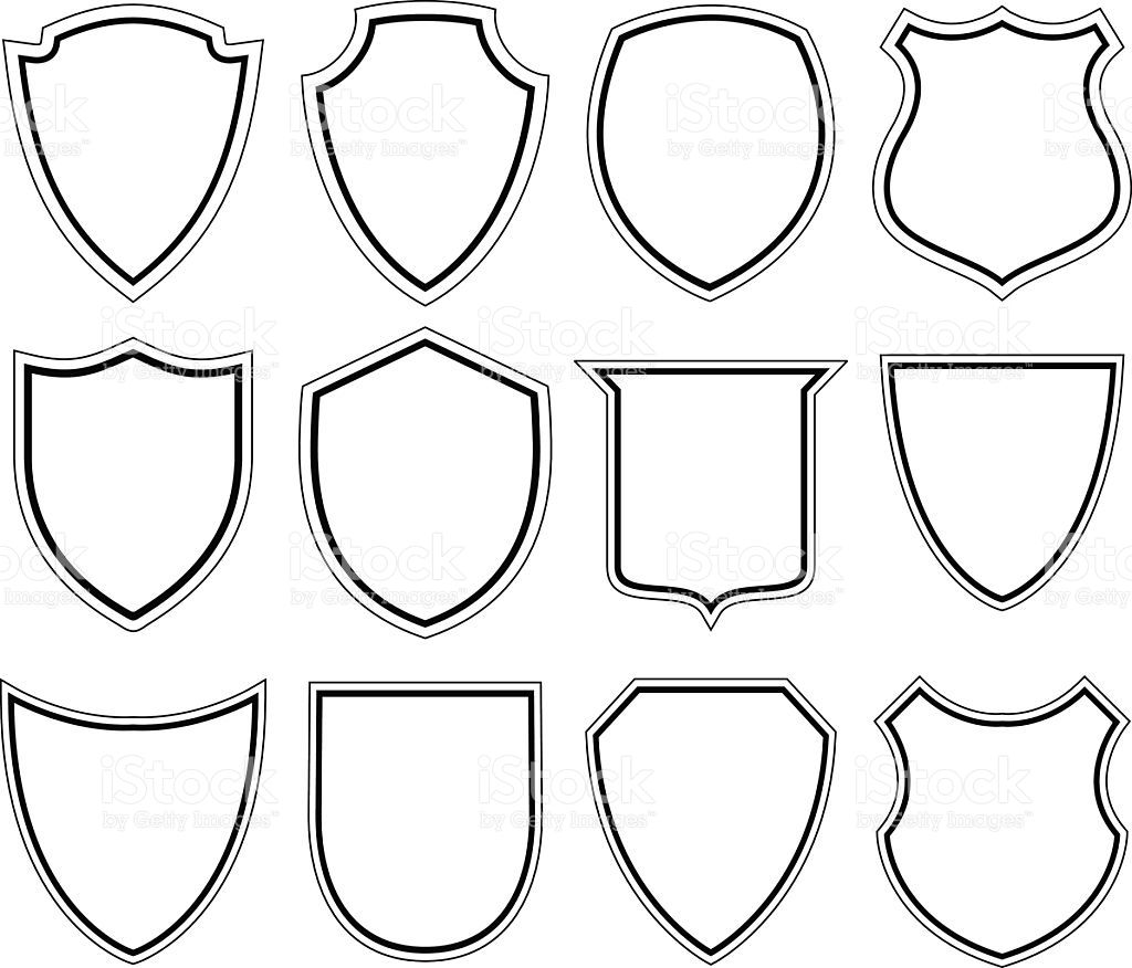 Set Of Shield Icons Shield Icon Shield Drawing Medieval Crafts