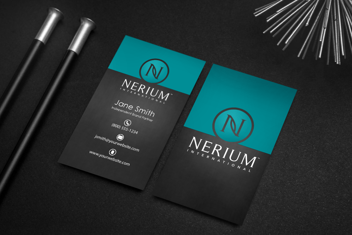 Nerium Brand Partners We Ve Got Your Newest Business Card Mlm Nerium Print Paper Graphicdesign Printing Business Cards Contact Card Free Business Cards