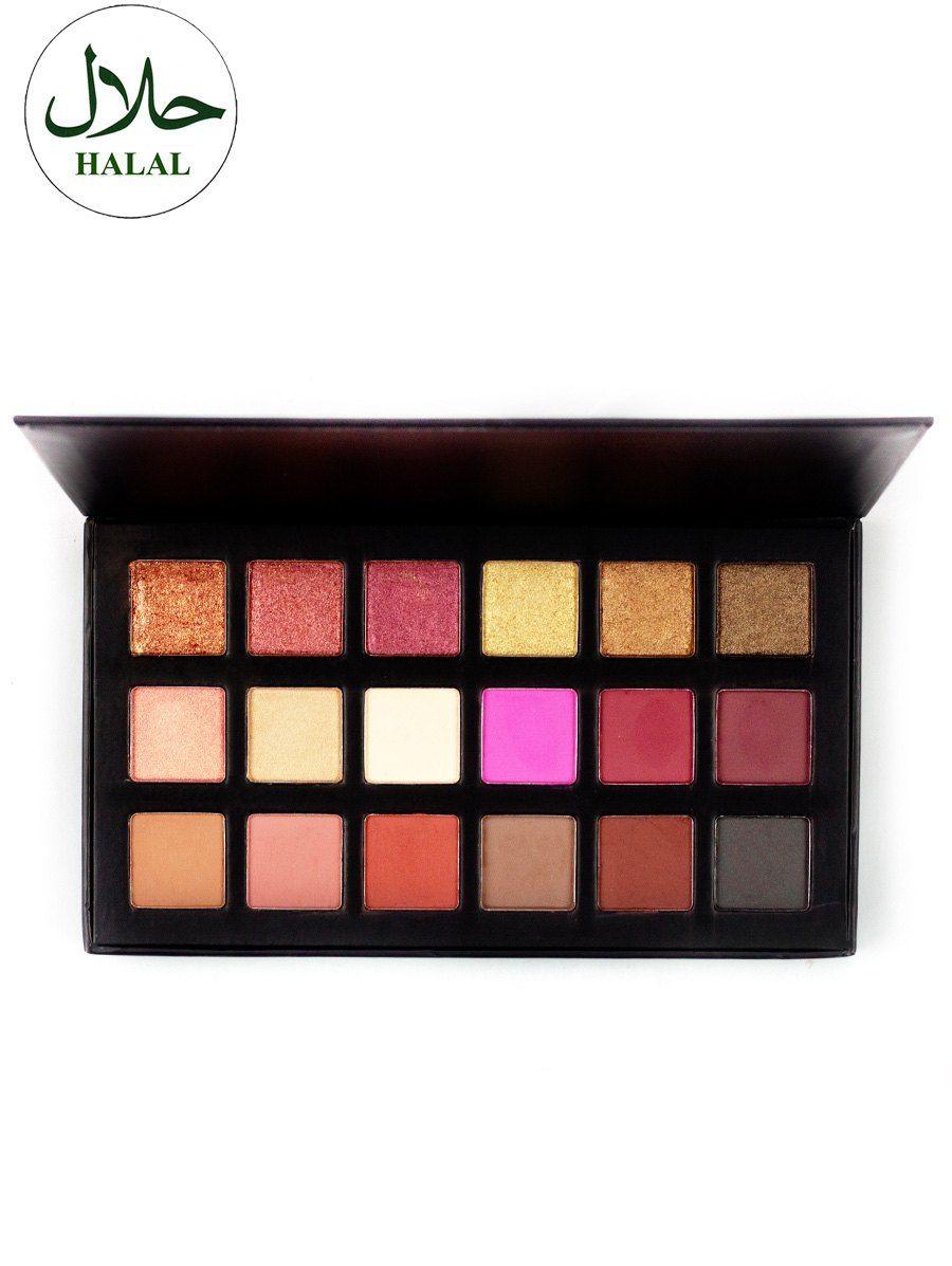 Halalmakeup Eyeshadow Makeup Kit Pink Gold Style Fashion