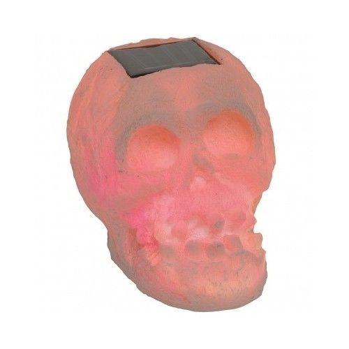 SKULLar Translucent White Solar LED Halloween Decoration Skull
