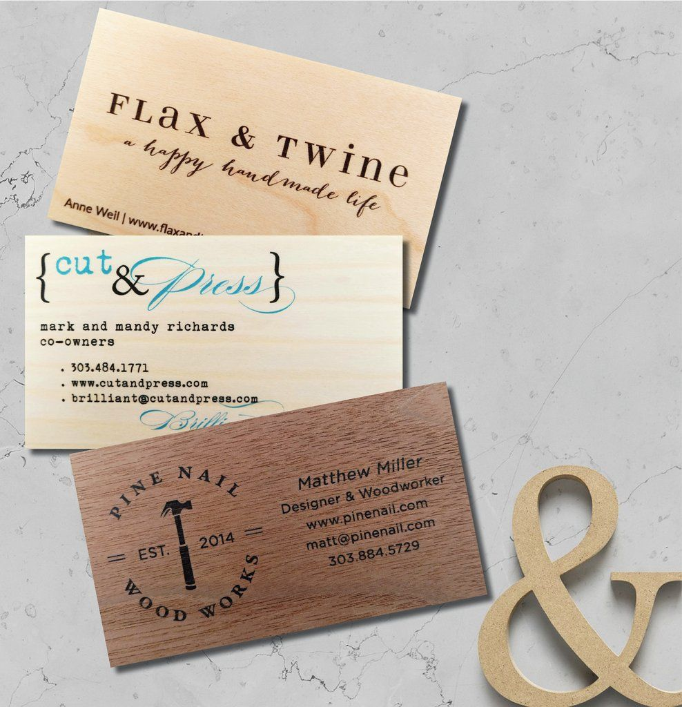 Business cards calling cards printed on real wood veneer sets of business cards calling cards printed on real wood veneer sets of 50 colourmoves
