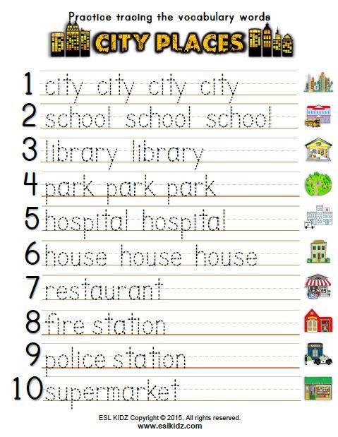 city places classroom center bundle city places activities for kids school worksheets. Black Bedroom Furniture Sets. Home Design Ideas
