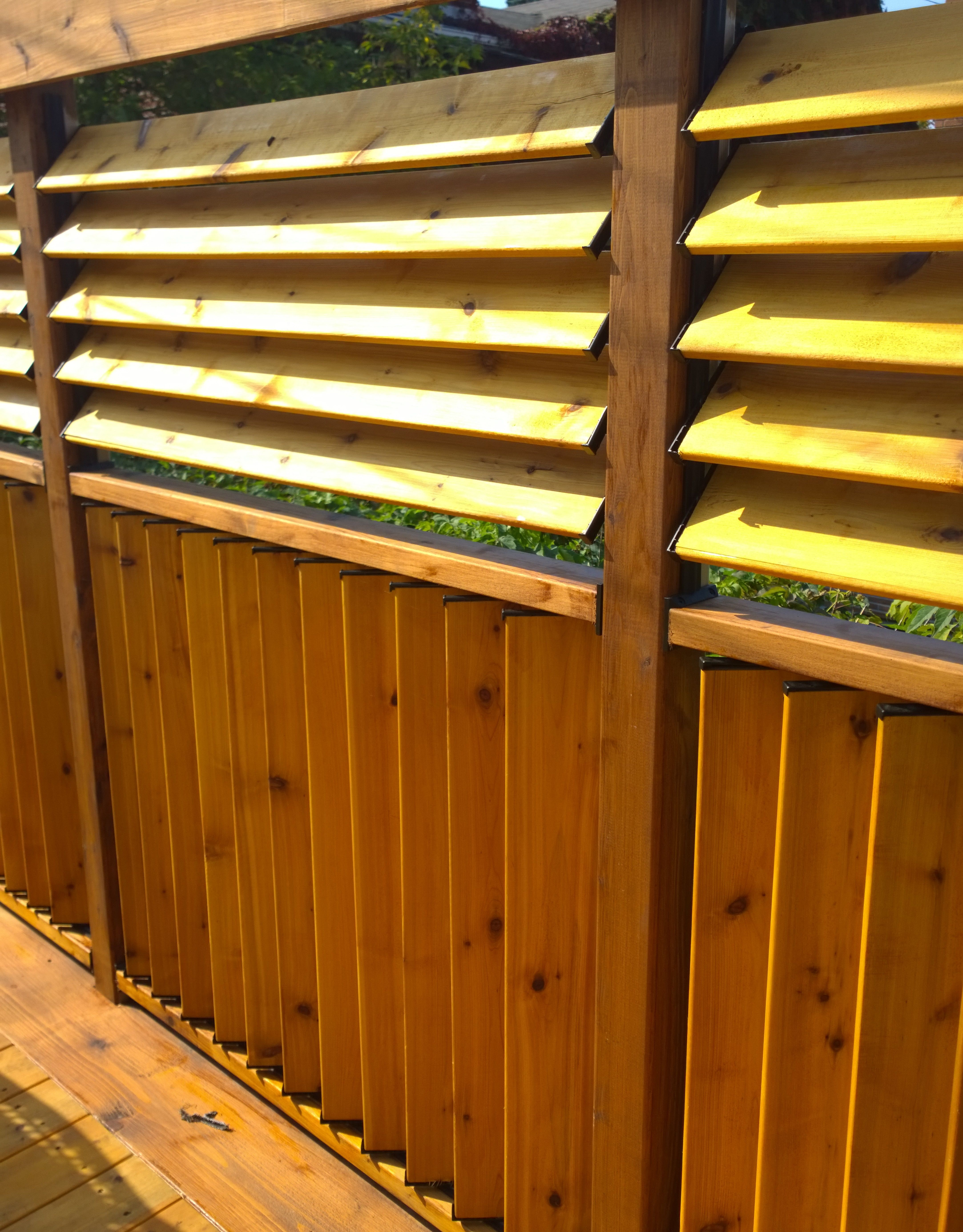 Wooden Deck Panels ~ Flexfence creation by jason bubba from sudbury ontario