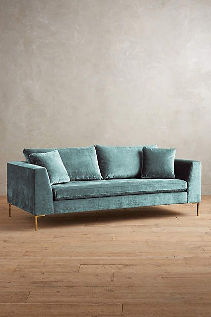 slub velvet edlyn sofa velvet sofas and anthropologie. Black Bedroom Furniture Sets. Home Design Ideas